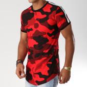 /achat-t-shirts-longs-oversize/john-h-tee-shirt-oversize-avec-bandes-18126-rouge-camouflage-154126.html