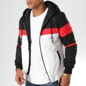 /achat-vestes/john-h-veste-zippee-670-noir-blanc-rouge-154138.html