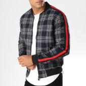 /achat-vestes/john-h-veste-zippee-carreaux-avec-bandes-367-bleu-marine-blanc-154143.html
