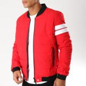 /achat-vestes/john-h-veste-zippee-bandes-brodees-908-rouge-noir-blanc-154198.html