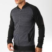/achat-cardigans-gilets/mz72-gilet-zippe-sarka-noir-gris-anthracite-chine-154068.html