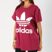 /achat-t-shirts-longs-oversize/adidas-tee-shirt-oversize-femme-big-trefoil-dh4430-bordeaux-154231.html