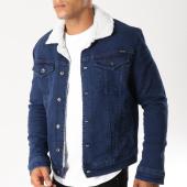 /achat-vestes-jean/classic-series-veste-jean-col-mouton-6469-bleu-denim-154279.html
