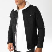 /achat-vestes-jean/classic-series-veste-jean-col-mouton-6460-noir-154281.html