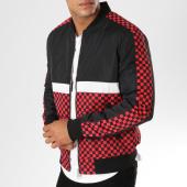 /achat-vestes/john-h-veste-zippee-damier-671-noir-rouge-154254.html