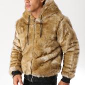 /achat-vestes/john-h-veste-zippee-capuche-fourrure-318-camel-154258.html