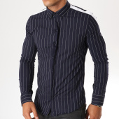 /achat-chemises-manches-longues/uniplay-chemise-manches-longues-avec-bandes-c01-bleu-marine-154410.html