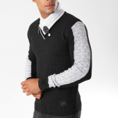 /achat-pulls/classic-series-pull-col-amplified-avec-bandes-5909-noir-154492.html