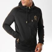 /achat-sweats-zippes-capuche/gym-king-sweat-zippe-capuche-gold-edition-noir-dore-154627.html