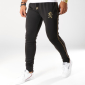 /achat-pantalons-joggings/gym-king-pantalon-jogging-avec-bandes-gold-edition-noir-dore-154629.html