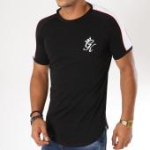 /achat-t-shirts-longs-oversize/gym-king-tee-shirt-oversize-avec-bandes-pipe-retro-noir-blanc-rouge-154636.html