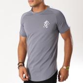 /achat-t-shirts-longs-oversize/gym-king-tee-shirt-oversize-avec-bandes-pipe-retro-gris-blanc-bleu-clair-154637.html