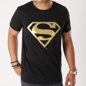 /achat-t-shirts/superman-tee-shirt-gold-logo-noir-154778.html