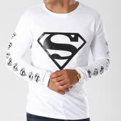 /achat-t-shirts-manches-longues/superman-tee-shirt-manches-longues-logos-blanc-154783.html