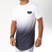 /achat-t-shirts-longs-oversize/gianni-kavanagh-tee-shirt-oversize-splats-blanc-degrade-noir-154754.html