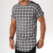 /achat-t-shirts-longs-oversize/frilivin-tee-shirt-oversize-a-carreaux-avec-bandes-5122-noir-vert-kaki-155036.html
