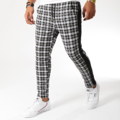 /achat-pantalons-carreaux/frilivin-pantalon-a-carreaux-avec-bandes-1401-noir-vert-kaki-155041.html