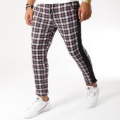 /achat-pantalons-carreaux/frilivin-pantalon-a-carreaux-avec-bandes-1401-noir-bordeaux-155043.html