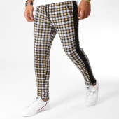 /achat-pantalons-carreaux/frilivin-pantalon-a-carreaux-avec-bandes-1401-noir-jaune-155046.html