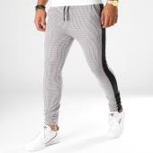 /achat-pantalons-carreaux/project-x-pantalon-avec-bandes-88184442-blanc-noir-marron-154887.html