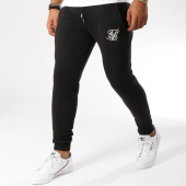 /achat-pantalons-joggings/siksilk-pantalon-jogging-muscle-fit-13230-noir-blanc-155009.html