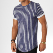 /achat-t-shirts-longs-oversize/aarhon-tee-shirt-oversize-18-232-bleu-marine-blanc-155192.html
