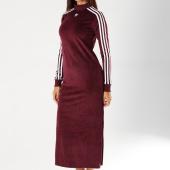 /achat-robes/adidas-robe-femme-velours-trefoil-dh3110-bordeaux-155099.html