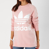 /achat-sweats-col-rond-crewneck/adidas-sweat-crewneck-oversize-femme-dh4432-rose-blanc-155151.html