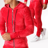 /achat-ensembles-survetement/john-h-ensemble-jogging-velours-ab39-j-rouge-155090.html