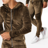 /achat-ensembles-survetement/john-h-ensemble-jogging-velours-ab39-j-vert-kaki-155092.html