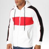 /achat-sweats-zippes-capuche/john-h-sweat-zippe-capuche-379-blanc-rouge-noir-155114.html