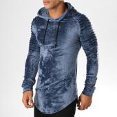 /achat-sweats-capuche/john-h-sweat-crewneck-oversize-velours-551-bleu-marine-155142.html