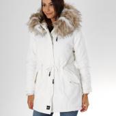 /achat-parkas/sixth-june-parka-fourrure-femme-w3327sow-blanc-beige-155149.html