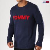 /achat-pulls/tommy-hilfiger-jeans-pull-bold-logo-5203-bleu-marine-155168.html