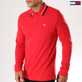 /achat-polos-manches-longues/tommy-hilfiger-jeans-polo-manches-longues-classics-5393-rouge-155169.html