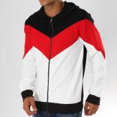 /achat-sweats-zippes-capuche/terance-kole-sweat-zippe-capuche-a7199-blanc-noir-rouge-155206.html