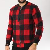 /achat-vestes/berry-denim-veste-zippee-a-carreaux-plz045-noir-rouge-155412.html