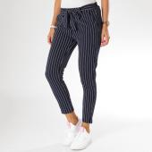 /achat-pantalons-carreaux/girls-only-pantalon-raye-femme-344r-bleu-marine-blanc-155383.html
