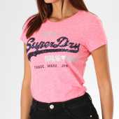 /achat-t-shirts/superdry-tee-shirt-femme-vintage-logo-sequin-entry-g10417ar-rose-chine-155336.html