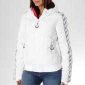 /achat-doudounes/superdry-doudoune-femme-bandes-brodees-streetwear-repeat-g50015cr-blanc-noir-155343.html