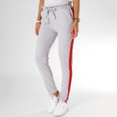 /achat-pantalons-carreaux/girls-only-pantalon-femme-avec-bandes-2551-gris-rouge-155548.html