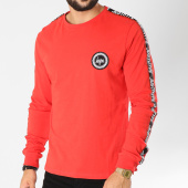 /achat-t-shirts-manches-longues/hype-tee-shirt-manches-longues-bandes-brodees-taylor-tape-rouge-noir-155468.html