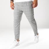 /achat-pantalons-carreaux/teddy-smith-pantalon-carreaux-avec-bandes-pywan-noir-blanc-155581.html