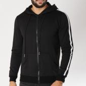 /achat-sweats-zippes-capuche/terance-kole-sweat-zippe-capuche-avec-bandes-a1703-noir-155531.html