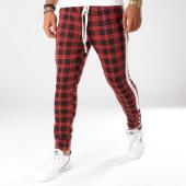 /achat-pantalons-carreaux/uniplay-pantalon-carreaux-avec-bandes-up-t3275-rouge-noir-155494.html