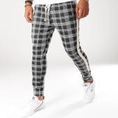 /achat-pantalons-carreaux/uniplay-pantalon-carreaux-avec-bandes-up-t3275-noir-blanc-155495.html