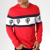 /achat-sweats-col-rond-crewneck/vip-clothing-sweat-crewneck-70011-rouge-blanc-bleu-marine-155558.html