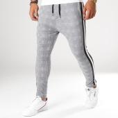 /achat-pantalons-carreaux/vip-clothing-pantalon-a-carreaux-avec-bandes-1904-gris-blanc-noir-155572.html