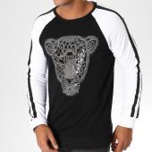 /achat-sweats-col-rond-crewneck/vip-clothing-sweat-crewneck-avec-bandes-1901-noir-blanc-argente-155574.html