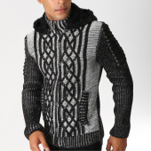 /achat-cardigans-gilets/john-h-gilet-zippe-4012-noir-chine-155761.html